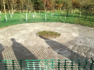 Base for the new scout memorial